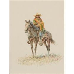 Wieghorst, Olaf - Vaquero on Horseback (1899-1988)