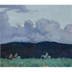 Hennings, E. Martin - Moonlight in the Chamisa (1886-1956)