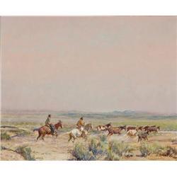 Berninghaus, Oscar  - Valley of the Wild Horses (1874-1952)