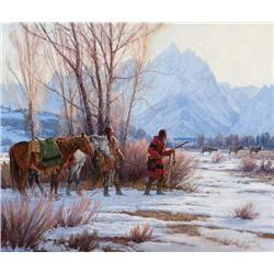 Grelle, Martin - The Elk Stalkers (b. 1954)