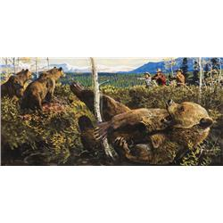 Kuhn, Bob - Ambush by 4 Bears (1920-2007)