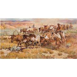 Eggenhofer, Nicholas - Texas Longhorn Cattle Drive (1897-1985)