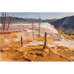 Aspevig, Clyde - The Terrace-Mammoth Hot Springs (b. 1951)