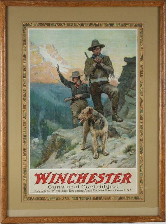 Vintage Winchester advertising poster. Loading zoom