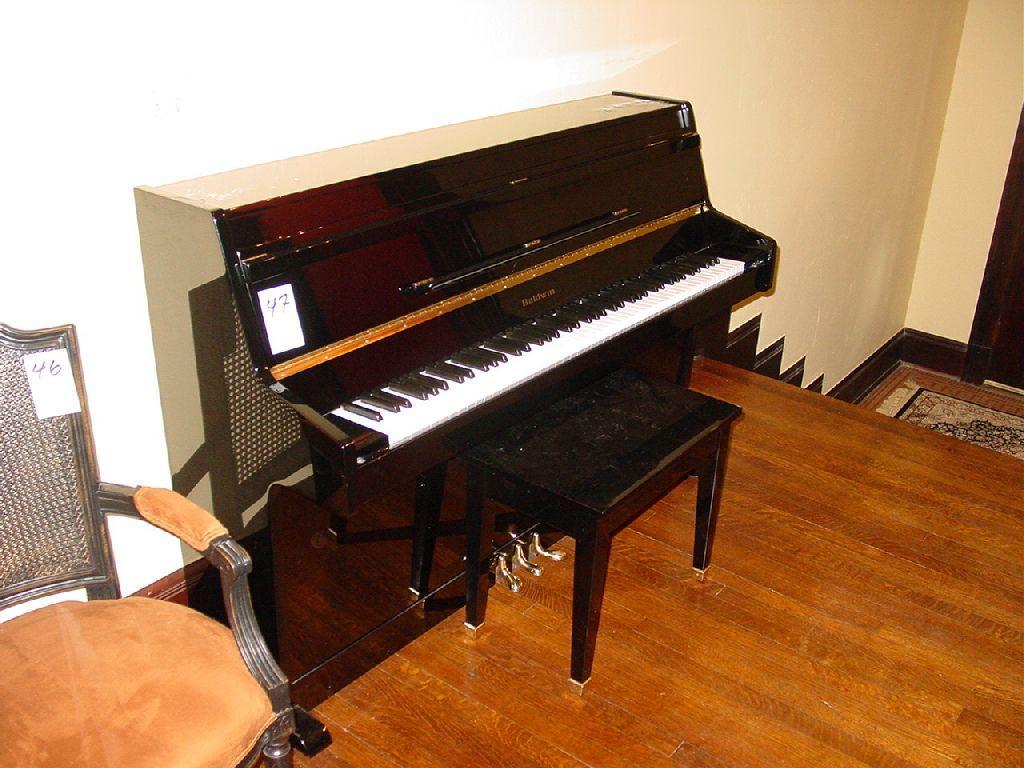 Terrific Baldwin Upright Piano Black Lacquer W Bench Creativecarmelina Interior Chair Design Creativecarmelinacom
