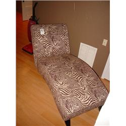Mathisi Brothers Brown And Cream Zebra Print Chaise Lounge