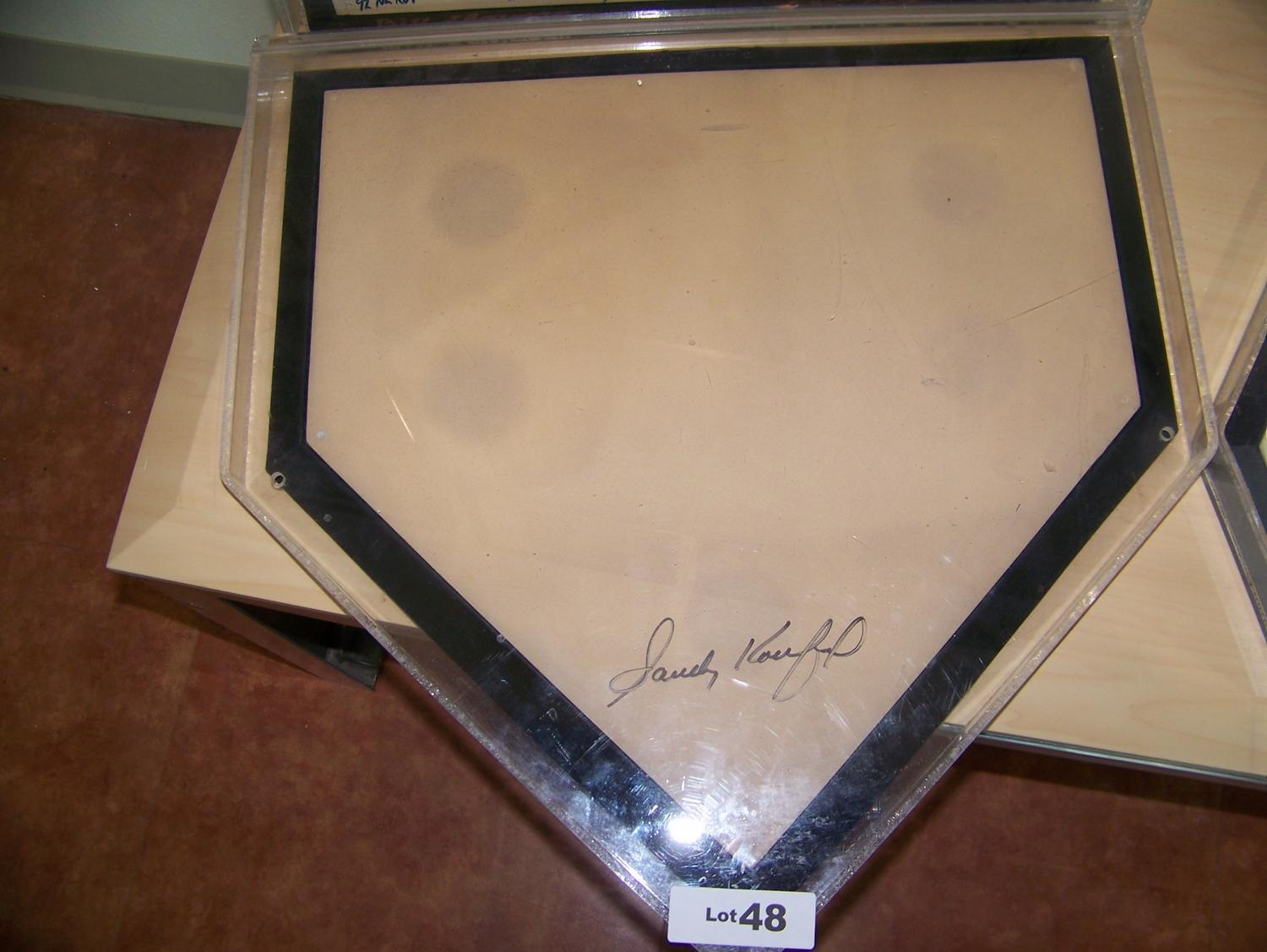 Remarkable Home Plate Signed By Sandy Koufax Download Free Architecture Designs Rallybritishbridgeorg