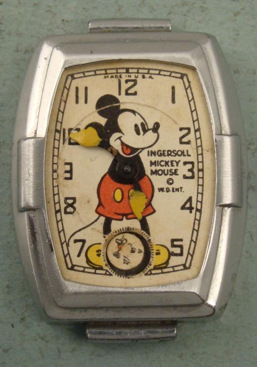 Mickey Mouse Watch Value >> Ingersoll Vintage Mickey Mouse Watch For Parts Repair