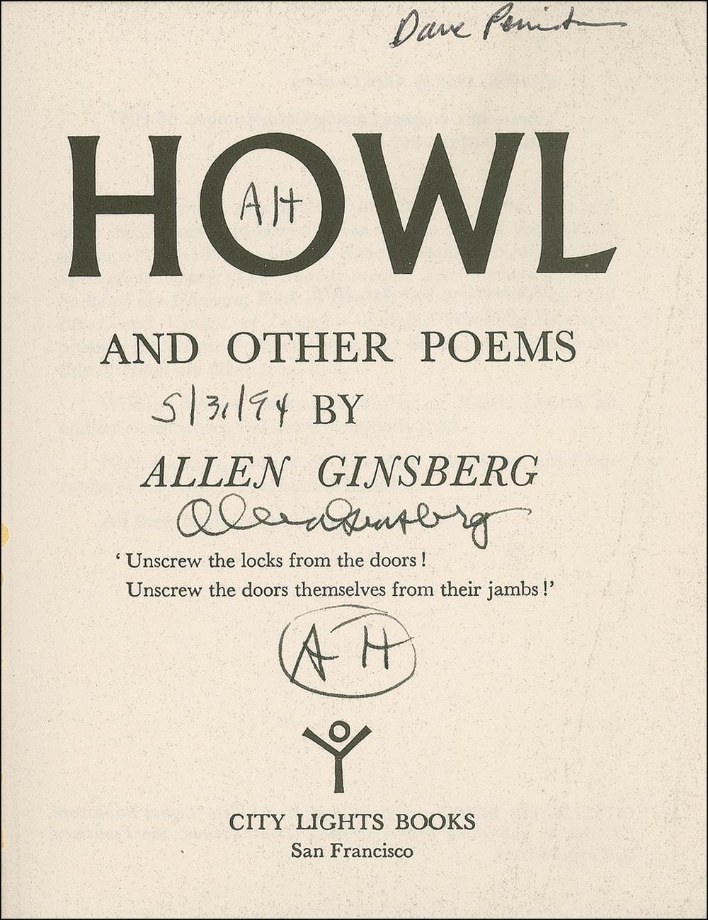Allen Ginsberg and Lawrence Ferlinghetti