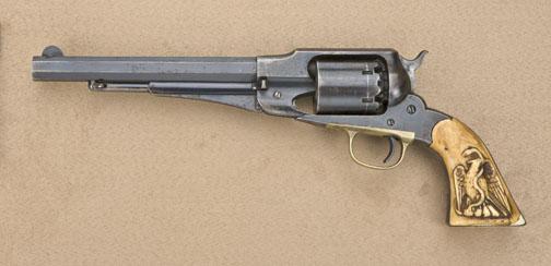 "Remington Model 1858 Single Action revolver,  44 cal , 8"" octagon barrel,  blue finish, original pe"