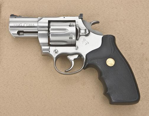 "Colt King Cobra Model DA stainless steel revolver,  357 Magnum cal , 2-1/2""  barrel, finger groove"