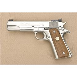 Colt MK IV Series '70 Government Model  semi-auto pistol in factory wood grained  cardboard box with