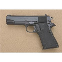 "Colt Commander Model semi-auto pistol, .45  cal., 4-1/4"" barrel, black finish, Pachmayr  wrap around"