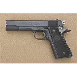 """Colt MK IV Series '70 Government Model  semi-auto pistol, .45 cal., 5"""" barrel, black  finish, checke"""