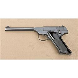 "Colt Huntsman Model Target semi-auto pistol,  .22LR cal, 6"" barrel, black finish, checkered  black p"