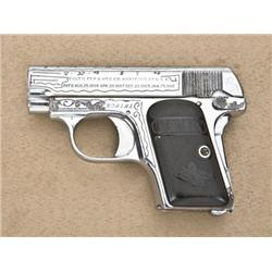 Colt Model 1908 Model semi-auto pistol with  non-factory engraving and inscribed dates,  .25 cal., 2