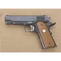 """Customized Colt Commander Model semi-auto  pistol, .45 cal., 4-1/4"""" barrel, black  finish, checkered"""