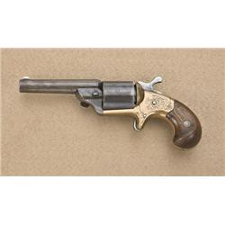 """National Arms front loading spur trigger  revolver, .32 caliber teat fire, 3-1/4"""" round  barrel, blu"""