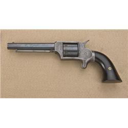 """Wm. Uhlinger Pocket spur trigger revolver,  .32 cal., 4-1/4"""" octagon barrel, blue finish,  wood grip"""