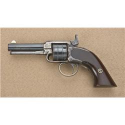"""James Warner Pocket revolver, .30 cal., 3""""  round barrel, blue finish to barrel and  cylinder, silve"""