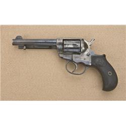 """Colt model 1877 Lightning double-action  revolver, .38 caliber, 4-1/2"""" barrel, blue  and case harden"""