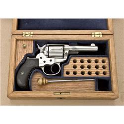 "Colt Lightening storekeepers model, .38  caliber, double-action revolver, factory  3-1/2"" barrel, ni"