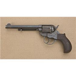 "Colt model 1877 Thunderer .41 caliber  double-action revolver, factory 6"" barrel,  blue and case har"