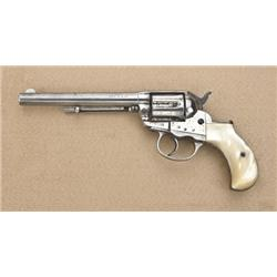 """Colt Thunderer .41 caliber double-action  revolver, factory 6"""" barrel, nickel plated,  pearl grips,"""