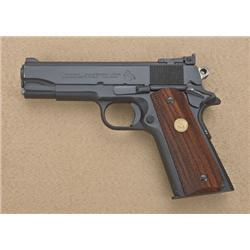 """Colt Combat Commander Model semi-auto pistol,  9mm Luger cal., 4-1/4"""" barrel, black finish,  checker"""