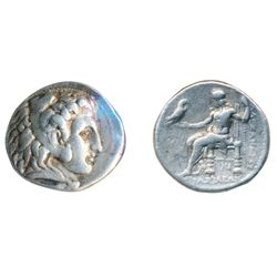 KINGDOM OF MACEDON. Alexander III, the Great, 336-323 BC. Silver Tetradrachm (16.96 g) attributed to