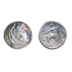 KINGDOM OF MACEDON. Alexander III, the Great, 336-323 BC. Silver Tetradrachm (17.12 g) minted posthu