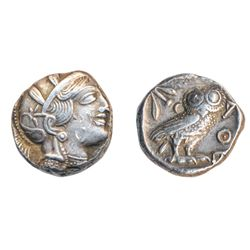 ATTICA, ATHENS. C. 440-404 BC. Silver Tetradrachm (17.18 g). Obv: Head right of Athena wearing crest