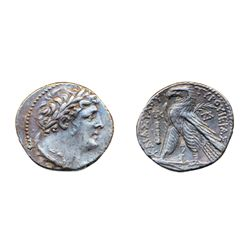 PHOENICIA, TYRE. 107-106 BC. Silver Shekel (14.05 g) dated year 20. Obv: Laureate head right of Melq