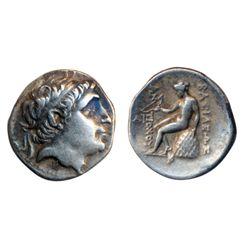 ANTICHOS II. Syria. Ar Drachm. (4.2 g.). Very Fine.