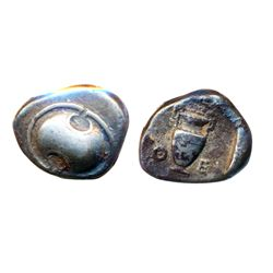 BOETITA. Ar Stater. C.400 BC. (12.0 g). Ex. Superior Galleries. May 31, 1980, Lot #2135. Fine+.