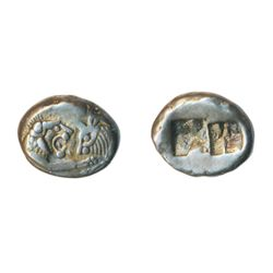 CROESUS. C.550 BC. Asia Minor, Kingdom of Lydia. AR. Half Stater or Siglos. Ex. Numismatic Fine Arts
