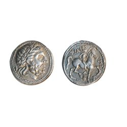 MACEDONIA. Philip II. AR. Tetradrachm. Ex. CICF Superior Galleries auction, Lot #2080. May 31, 1980.