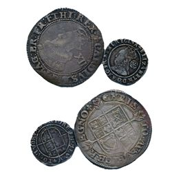 ENGLAND. Three Pence. 1578. Elizabeth I. 1558-1603. Seaby-2573. Very Fine; Shilling. 1625. Charles I