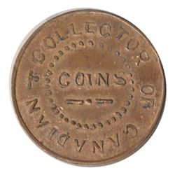 T. Church Token. Bow. 5-33. Copper. Plain edge. Medium Thick. 11.4 gms. UNC. 60% luster.