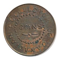 T. Church Token. Bow. 5-33. Copper. Plain edge. Medium Thick. 7.6 gms. UNC. Trace of luster.