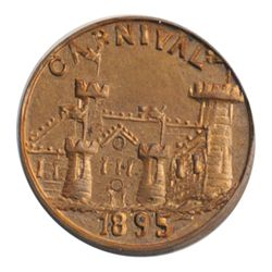 T. Church Token. Bow. 15-49. Copper. Plain edge. Thick. 11.3 gms. UNC. 60% luster.