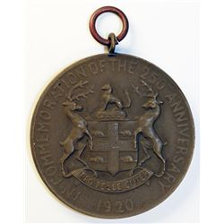 H.B.C. The 250th Anniversary Medal. Obv: IN COMMEMORATION OF THE 250TH ANNIVERSARY. 1920. Coat of Ar
