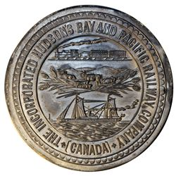 Medal Die Trial. THE INCORPORATED HUDSON'S BAY AND PACIFIC RAILWAY COMPANY, (CANADA) around the peri