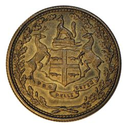 HUDSON'S BAY COMPANY. East Main District. 1/2 NB (Made Beaver). Breton-927. Gingras-220b. Brass. Unp