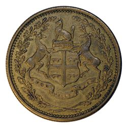 HUDSON'S BAY COMPANY. East Main District. 1 NB (Made Beaver). Breton-926. Gingras-220c. Brass. Unpun