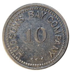 HUDSON'S BAY COMPANY. St. Lawrence Labrador District. 10 MB token. Gingras-260f. Alum. Large letteri