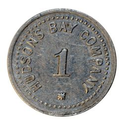 HUDSON'S BAY COMPANY. St. Lawrence Labrador District. 1 MB token. Gingras-260d. Alum. Large letterin