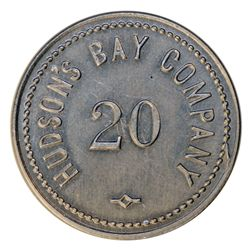 HUDSON'S BAY COMPANY. HUDSON'S BAY COMPANY. St. Lawrence Labrador District. 20 MB token. Gingras-260