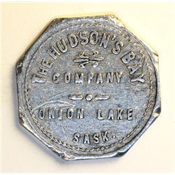 HUDSON'S BAY COMPANY. Onion Lake, Saskatchewan. Good For 25 Cents in Merchandise. Gingras-275b. R-7.