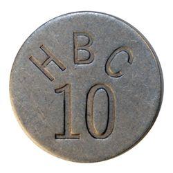 HUDSON'S BAY COMPANY. Eastern Arctic. HBC 10 incuse. (1946). Uniface. Alum. 27mm. Gingras-285a. EF.